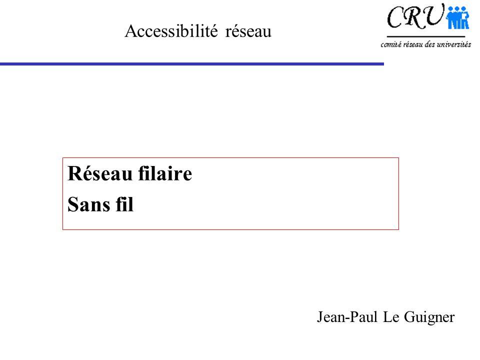 Réseau filaire Sans fil Accessibilité réseau Jean-Paul Le Guigner