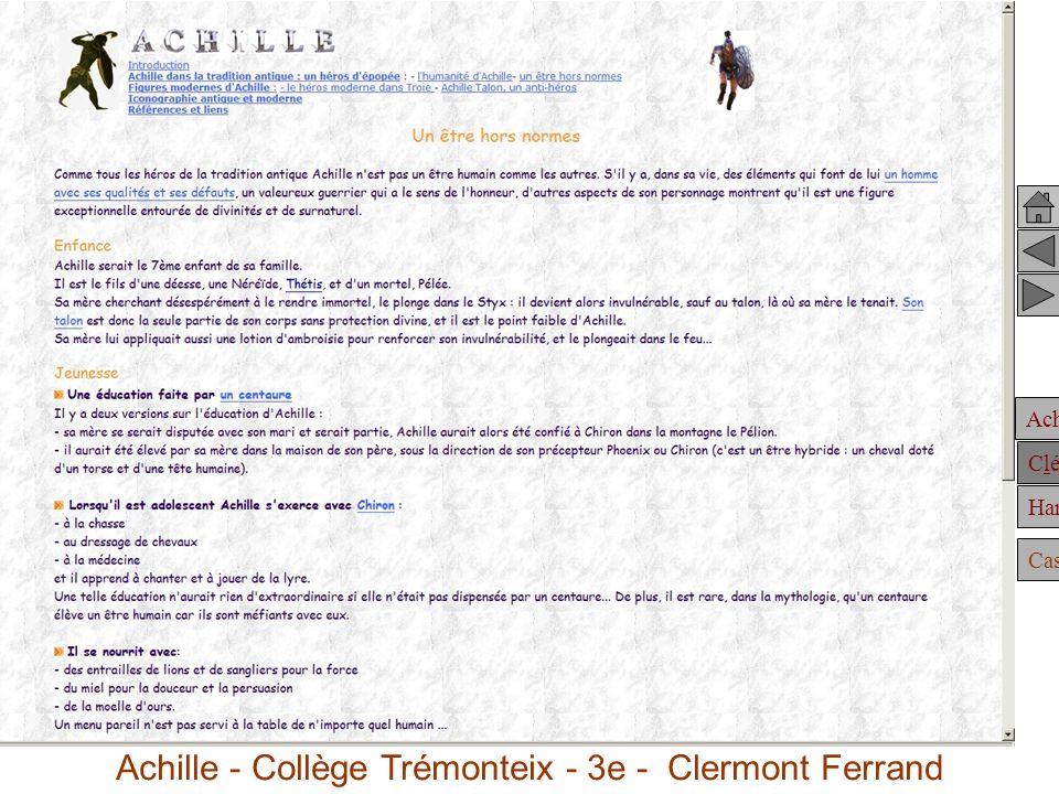 Achille Clélie Hannibal Casting Achille dans la tradition antique : Achille - Collège Trémonteix - 3e - Clermont Ferrand
