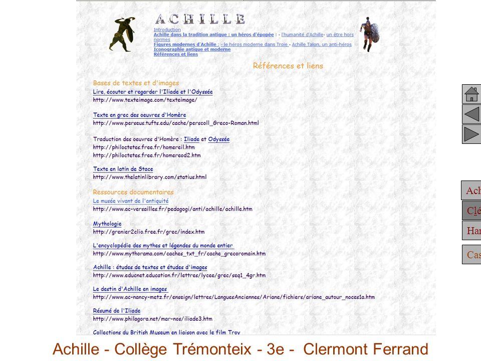 Achille Clélie Hannibal Casting Achille - Collège Trémonteix - 3e - Clermont Ferrand