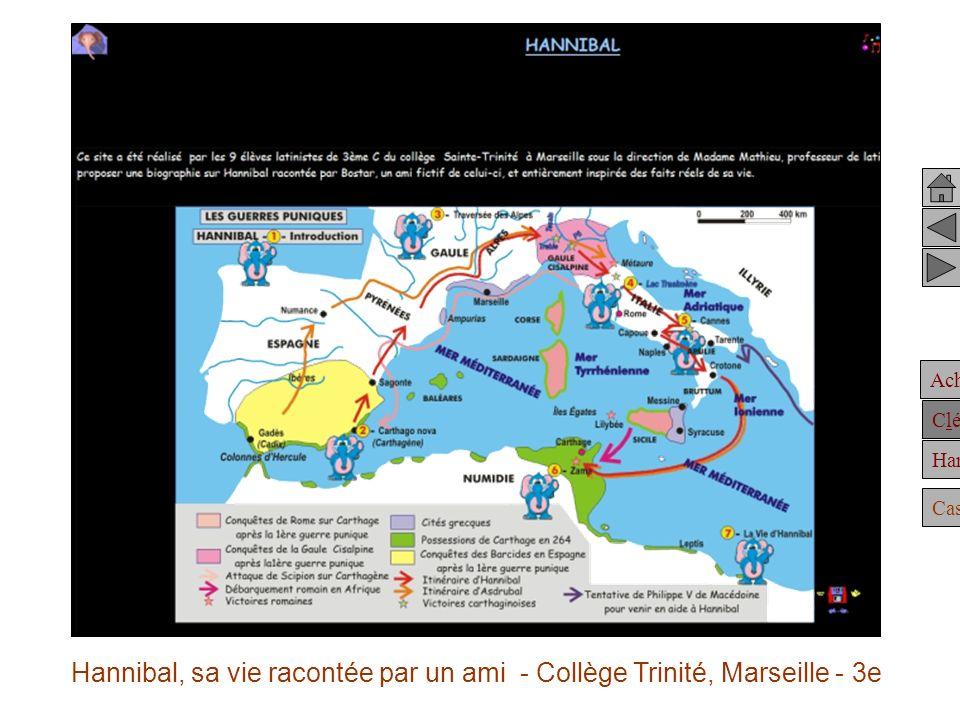 Achille Clélie Hannibal Casting Hannibal, sa vie racontée par un ami - Collège Trinité, Marseille - 3e