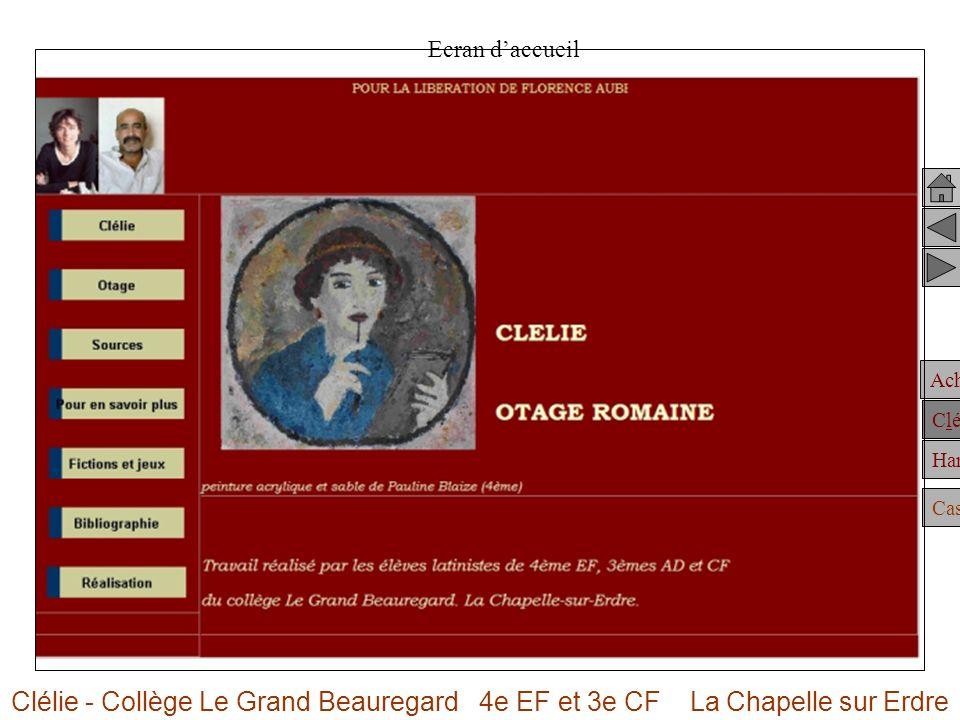 Achille Clélie Hannibal Casting Ecran daccueil Clélie - Collège Le Grand Beauregard 4e EF et 3e CF La Chapelle sur Erdre