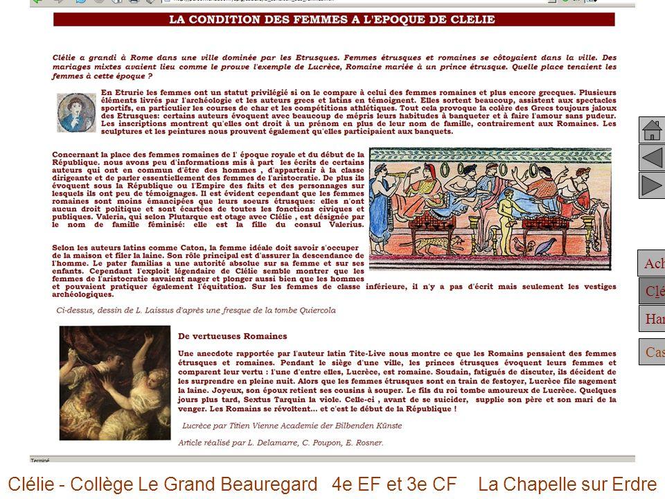 Achille Clélie Hannibal Casting Clélie - Collège Le Grand Beauregard 4e EF et 3e CF La Chapelle sur Erdre