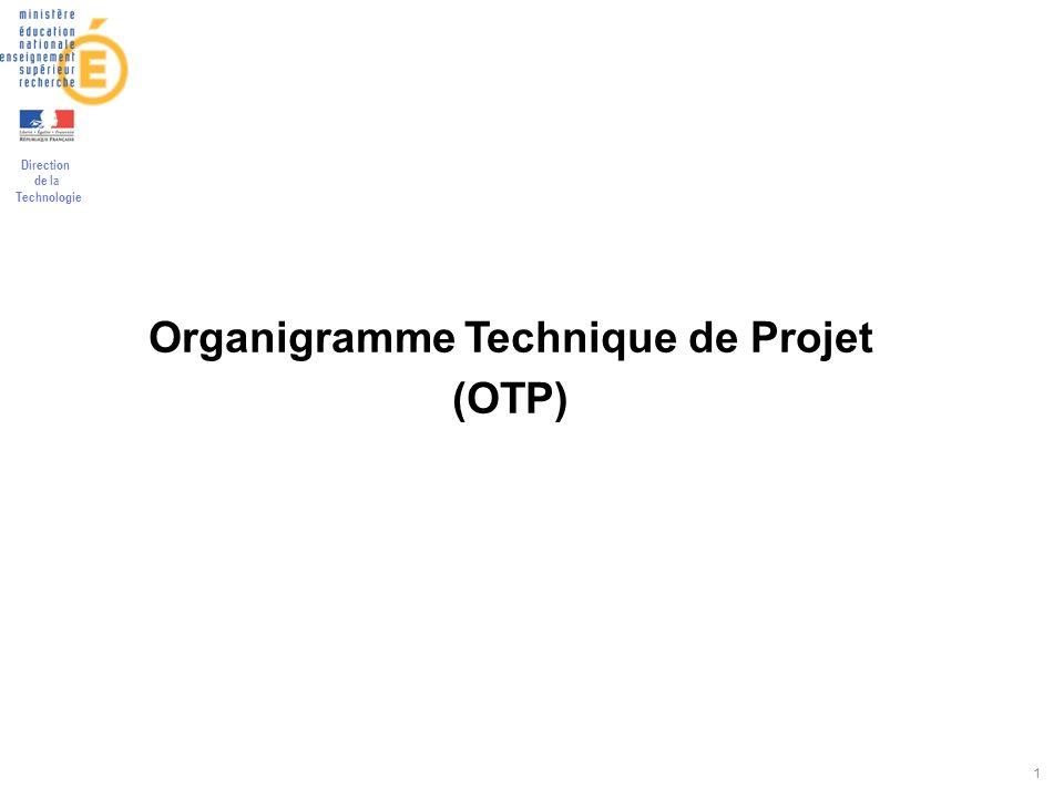 Direction de la Technologie 1 Organigramme Technique de Projet (OTP)
