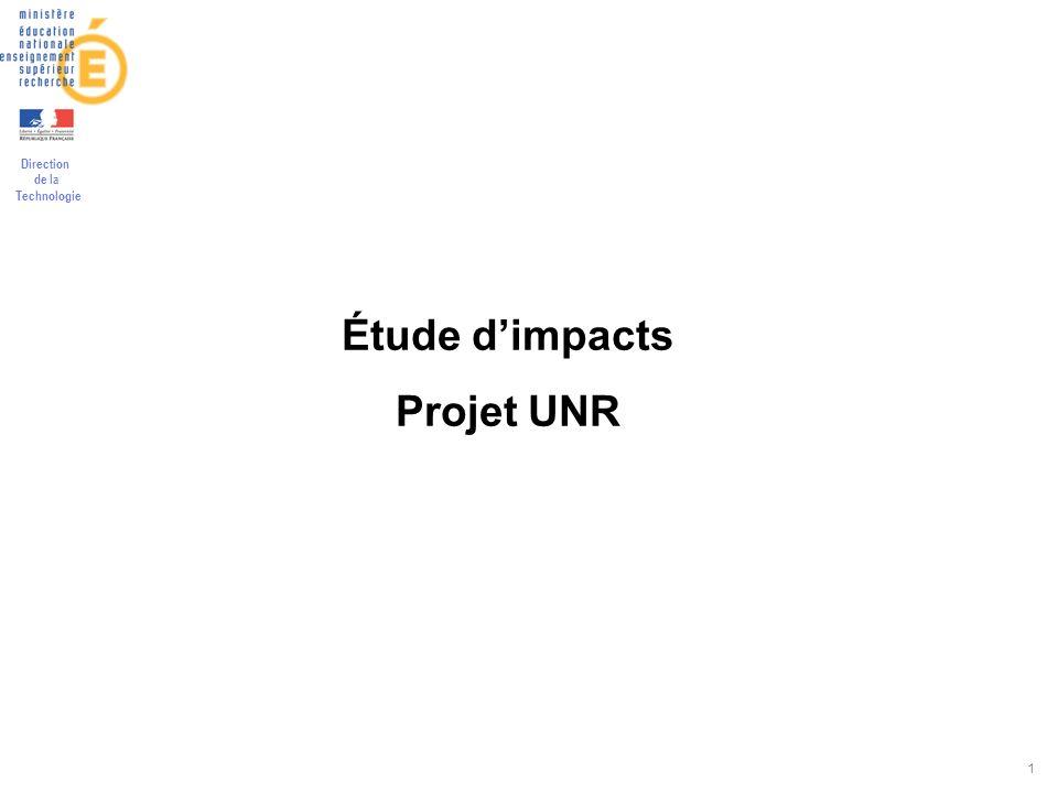 Direction de la Technologie 1 Étude dimpacts Projet UNR