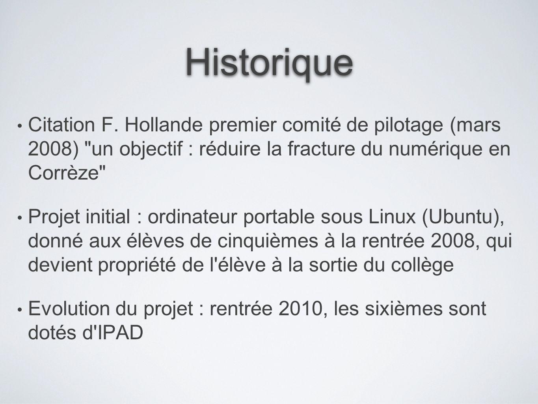 Historique Citation F. Hollande premier comité de pilotage (mars 2008)