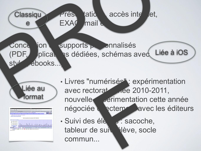 PRO F Conception de supports personnalisés (PDF, applications dédiées, schémas avec stylet, ebooks...) Liée à iOS Liée au format Livres
