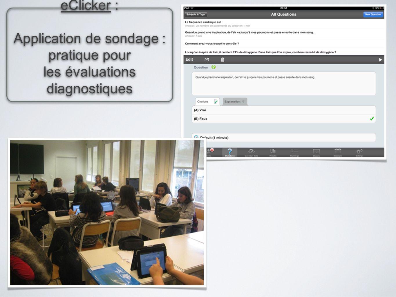 eClicker : Application de sondage : pratique pour les évaluations diagnostiques eClicker : Application de sondage : pratique pour les évaluations diag