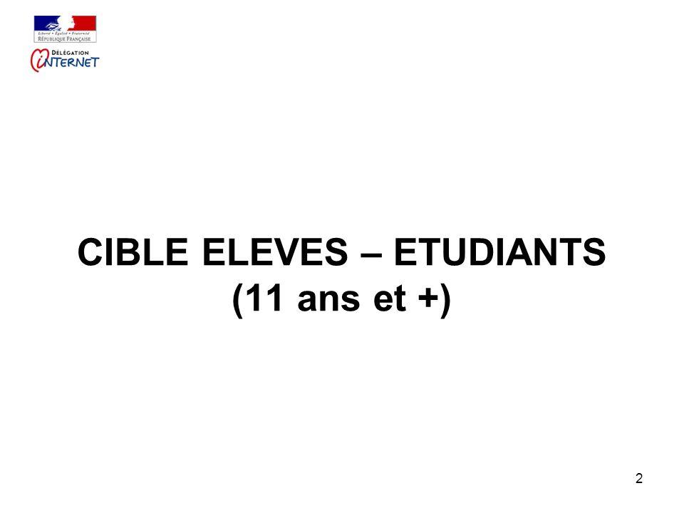 2 CIBLE ELEVES – ETUDIANTS (11 ans et +)