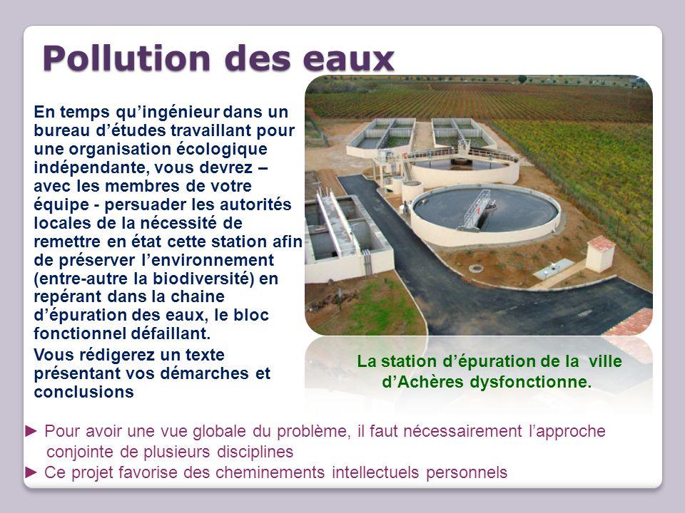 Pollution des eaux Pollution des eaux En temps quingénieur dans un bureau détudes travaillant pour une organisation écologique indépendante, vous devr
