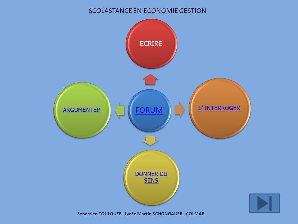SCOLASTANCE EN ECONOMIE GESTION … à lactualité … aux cours : la problématique … au développement structuré DONNER DU SENS ….
