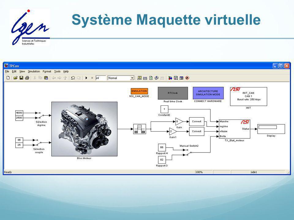 Système Maquette virtuelle