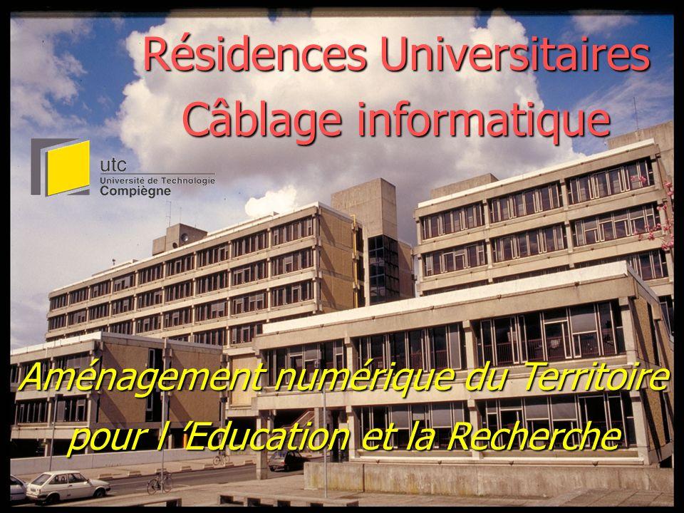 Résidences Universitaires Câblage informatique Aménagement numérique du Territoire pour l Education et la Recherche