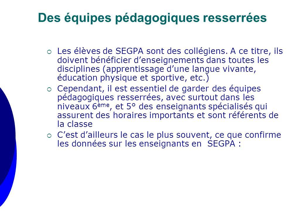 Les élèves de SEGPA sont des collégiens. A ce titre, ils doivent bénéficier denseignements dans toutes les disciplines (apprentissage dune langue viva