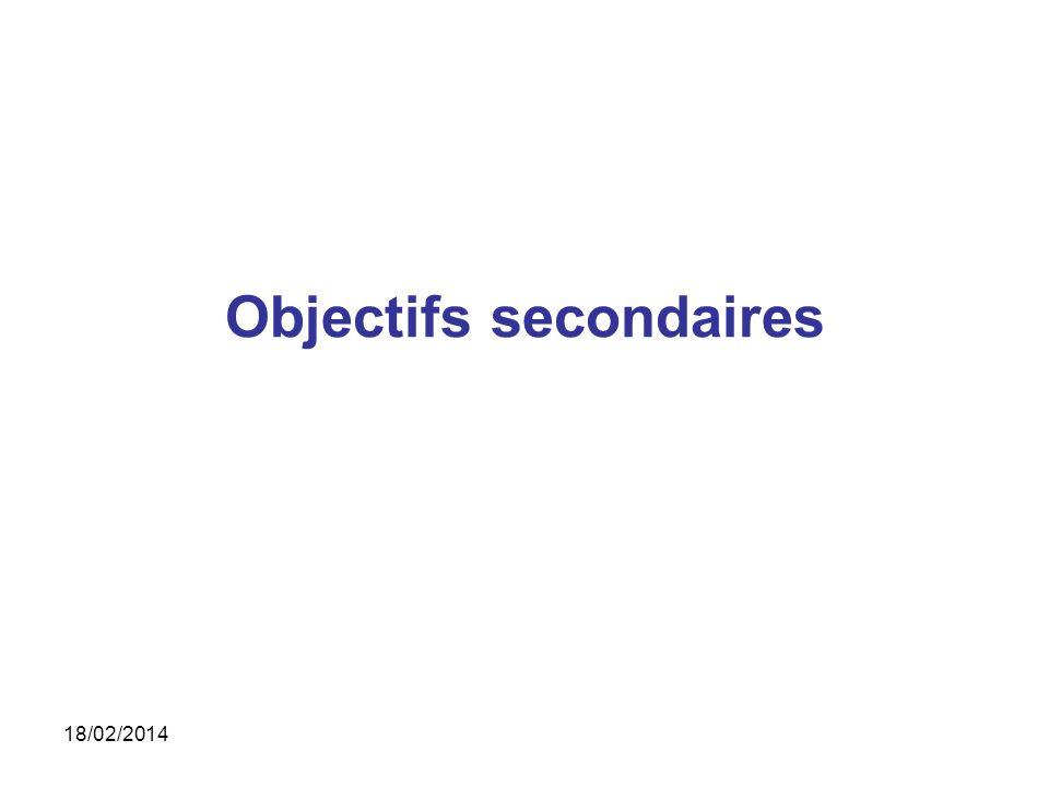 Objectifs secondaires 18/02/2014
