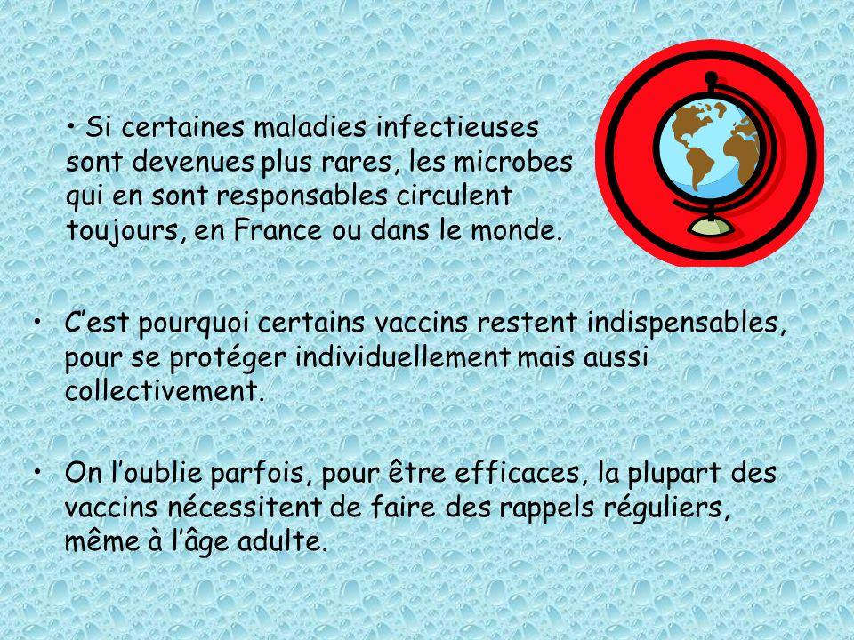 Cest pourquoi certains vaccins restent indispensables, pour se protéger individuellement mais aussi collectivement. On loublie parfois, pour être effi