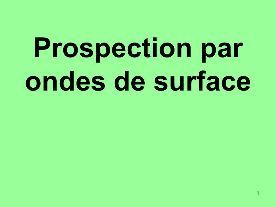 1 Prospection par ondes de surface