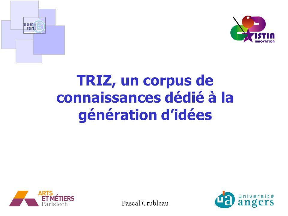 1 TRIZ, un corpus de connaissances dédié à la génération didées Pascal Crubleau