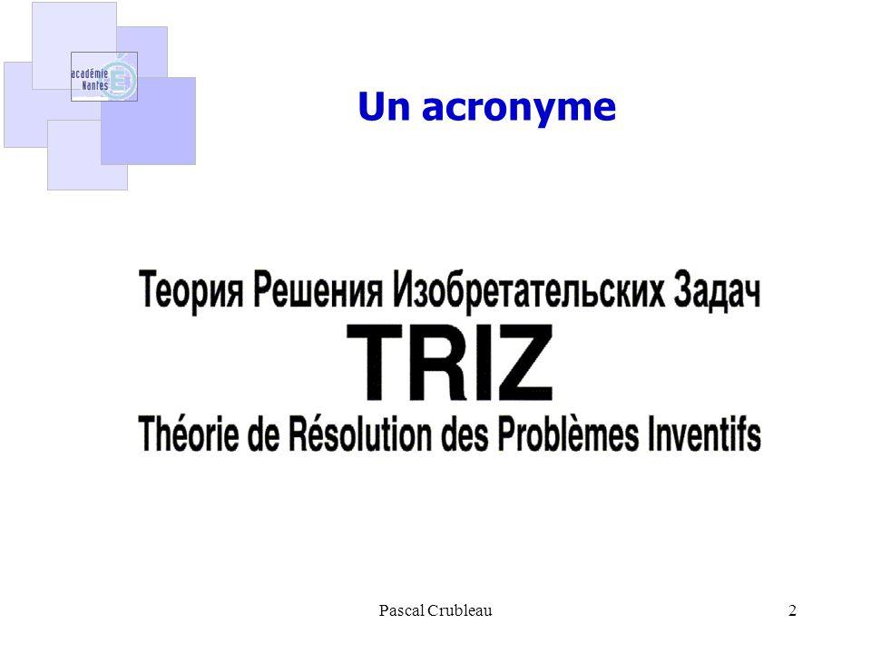 2 Un acronyme