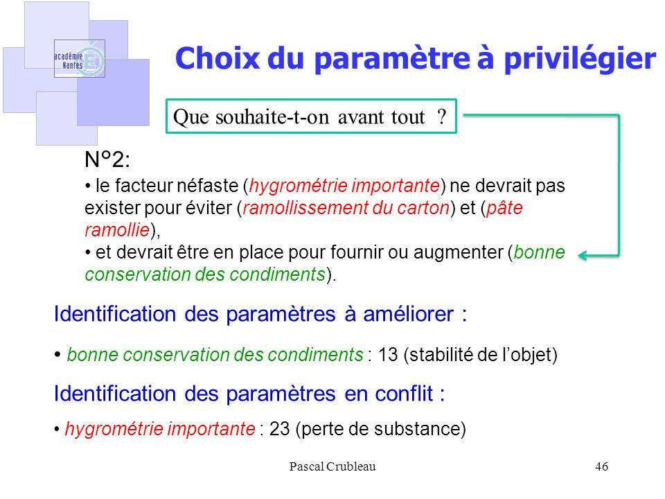 Pascal Crubleau46 N°2: le facteur néfaste (hygrométrie importante) ne devrait pas exister pour éviter (ramollissement du carton) et (pâte ramollie), e
