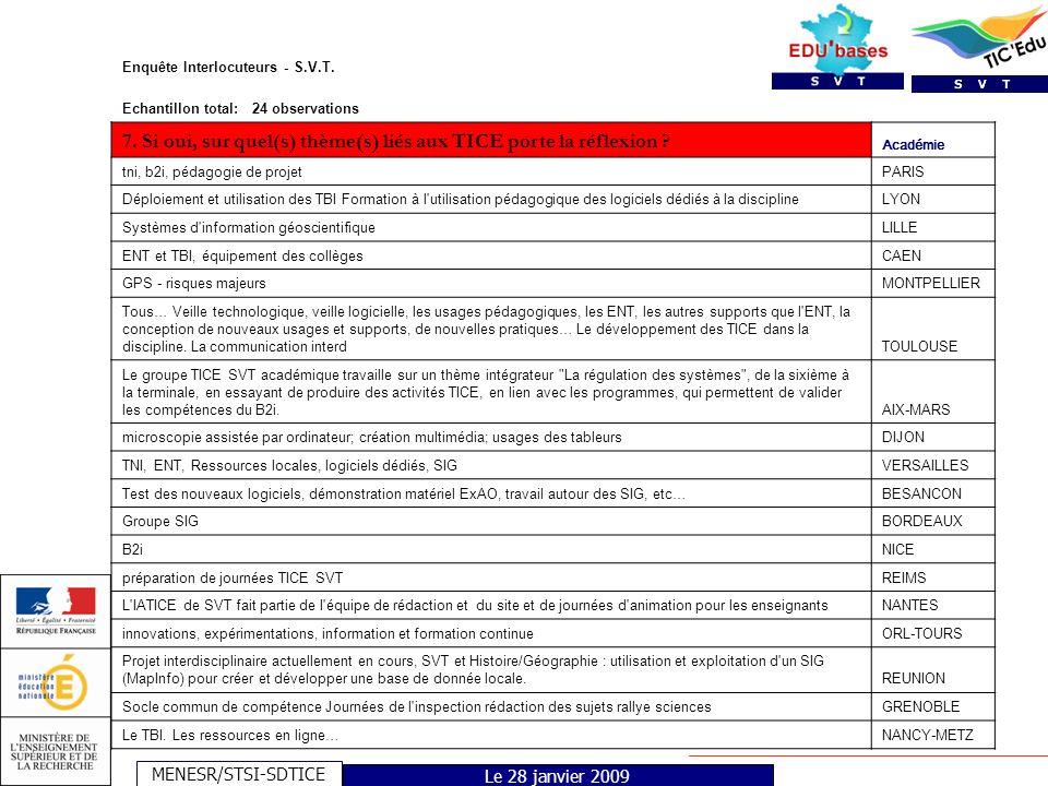 MENESR/STSI-SDTICE Le 28 janvier 2009