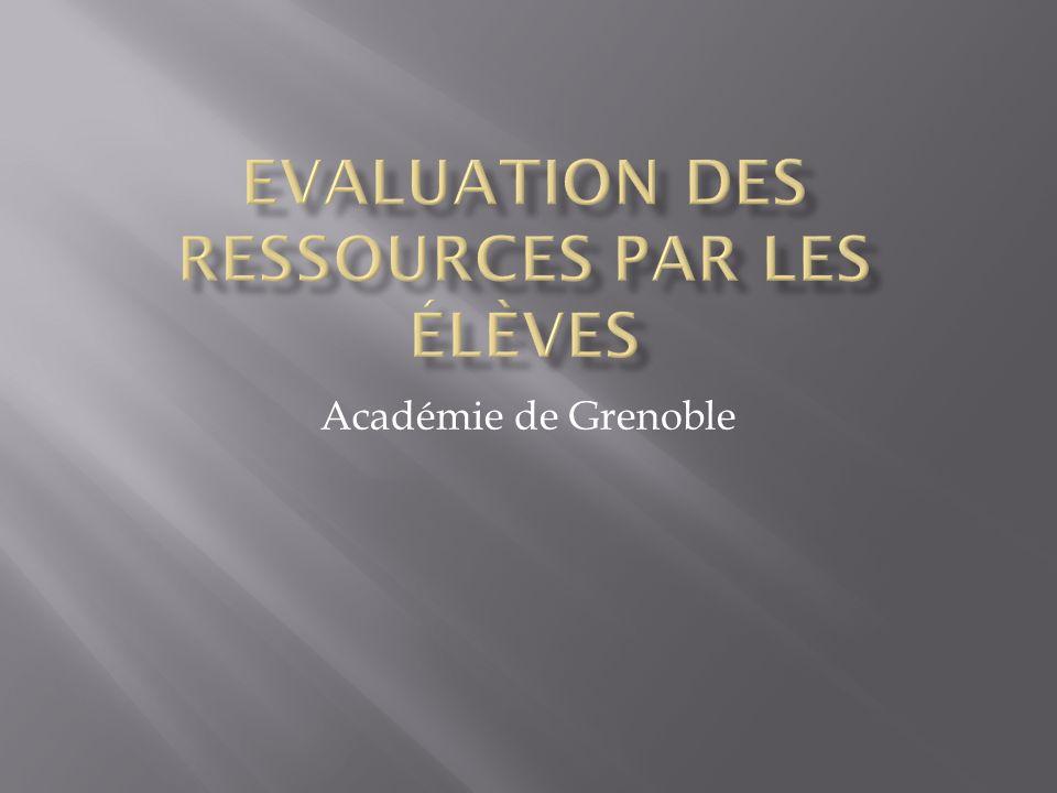 Après lutilisation en classe dune activité de type ressources accompagnées, des questionnaires ont été distribués aux élèves puis exploités.