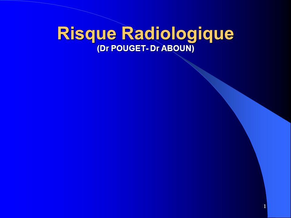 1 Risque Radiologique (Dr POUGET- Dr ABOUN)