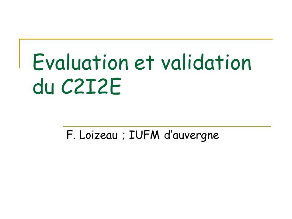 Les lignes directrices o Des acquis dans la certification du C2I2E au niveau des PLC2 qui débouchent sur la signature dune convention avec le rectorat pour la validation de différents personnels (par exemple les IANTE) o La certification repose sur un Dossier Informatisé de Suivi Individualisé (DISI) de lenvironnement numérique de formation de lIUFM dAuvergne.