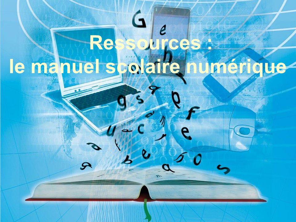 réunion interlocuteurs 30/03/2009 Ressources : le manuel scolaire numérique