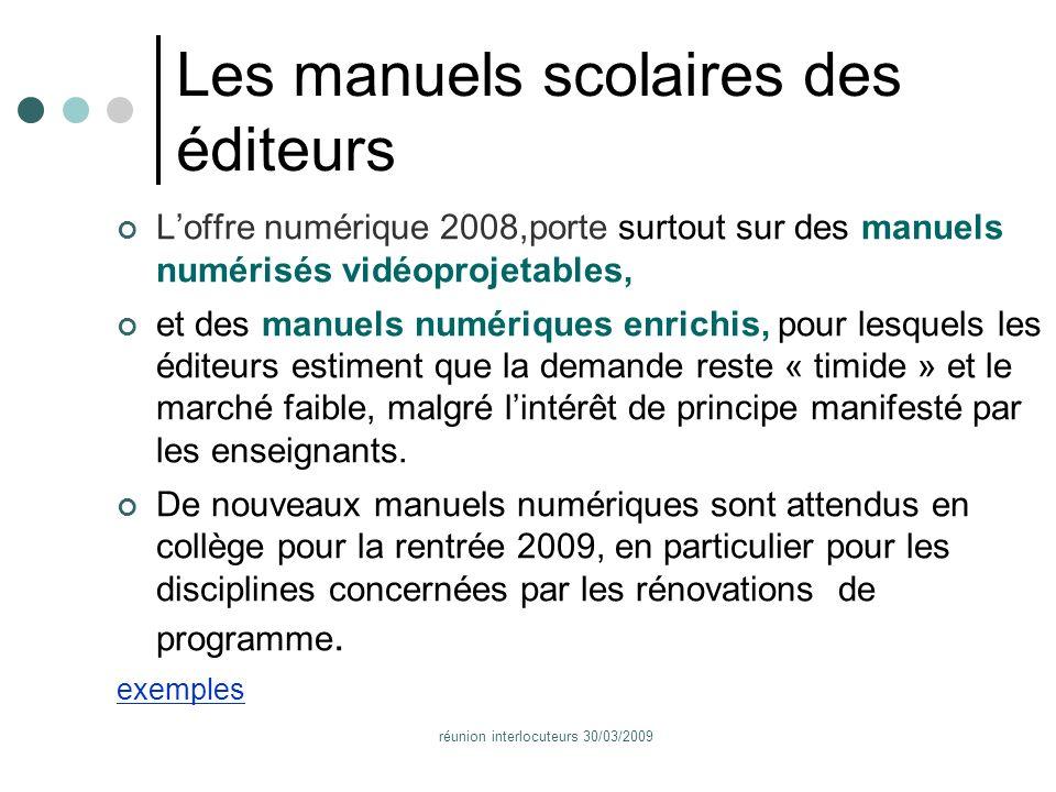 réunion interlocuteurs 30/03/2009 Annexes