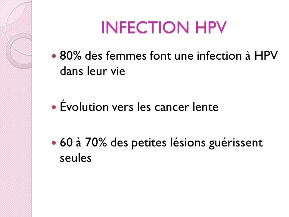 INFECTION A HPV col normal col