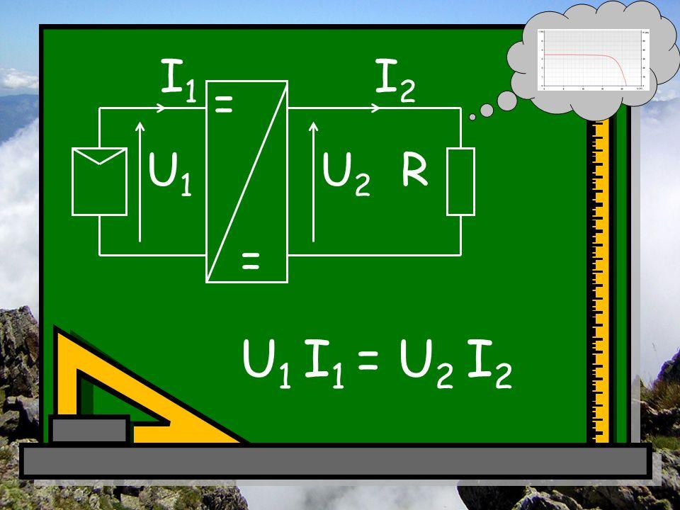 R = = I2I2 I1I1 U2U2 U1U1 U 1 I 1 = U 2 I 2