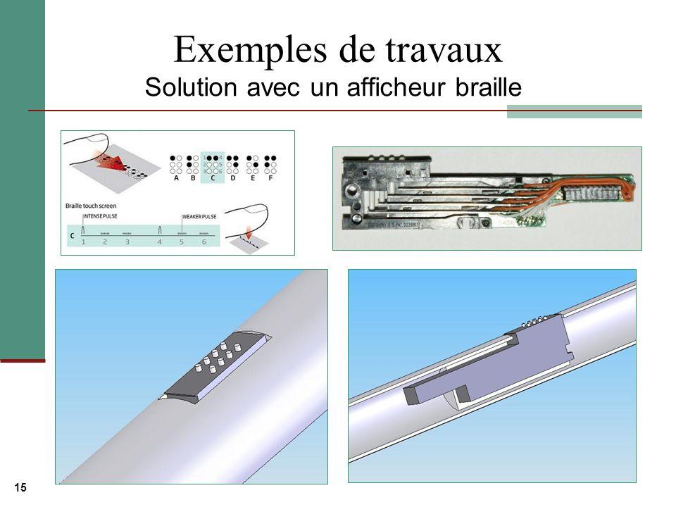 15 Exemples de travaux Solution avec un afficheur braille