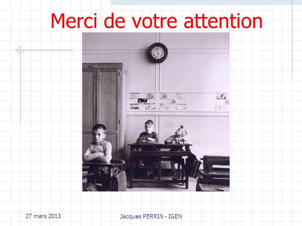 27 mars 2013 Jacques PERRIN - IGEN 4.Evaluation par les épreuves du BTS CRC Pour la certification on disposera de grilles nationales dévaluation qui s