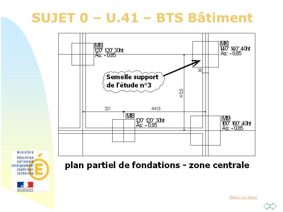 Retour au début SUJET 0 – U.41 – BTS Bâtiment