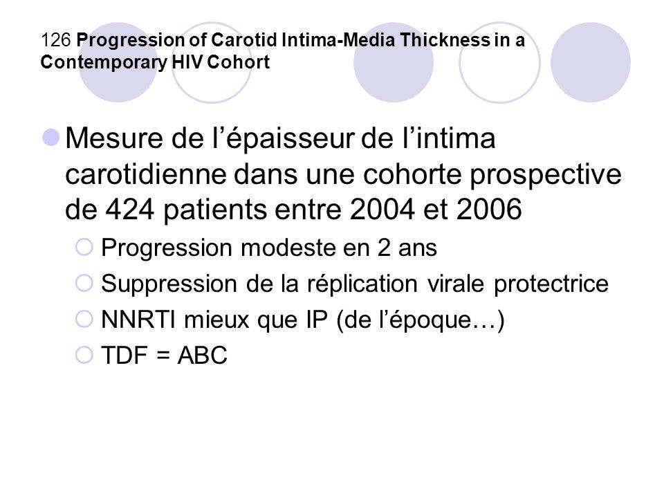 127 Triglycerides and the Risk of Myocardial Infarction in the D:A:D Study Rôle des TG dans le risque CV .