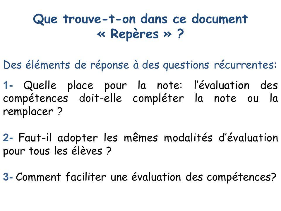 4- Quelles sont les conditions qui rendent lévaluation dun domaine de compétences objective et fiable .