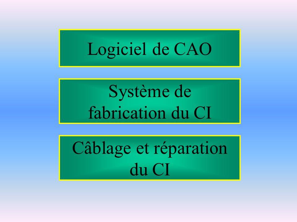 Système de fabrication du CI Câblage et réparation du CI Logiciel de CAO