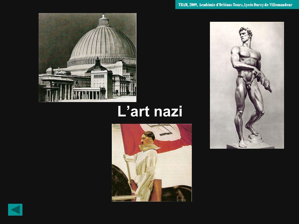Prêt au combat, Arno Breker Sculpture de 1939, Zeppelinfeld, Nuremberg 1- Décrivez les caractéristiques physiques et lattitude (regard, posture..) de lhomme sculpté.