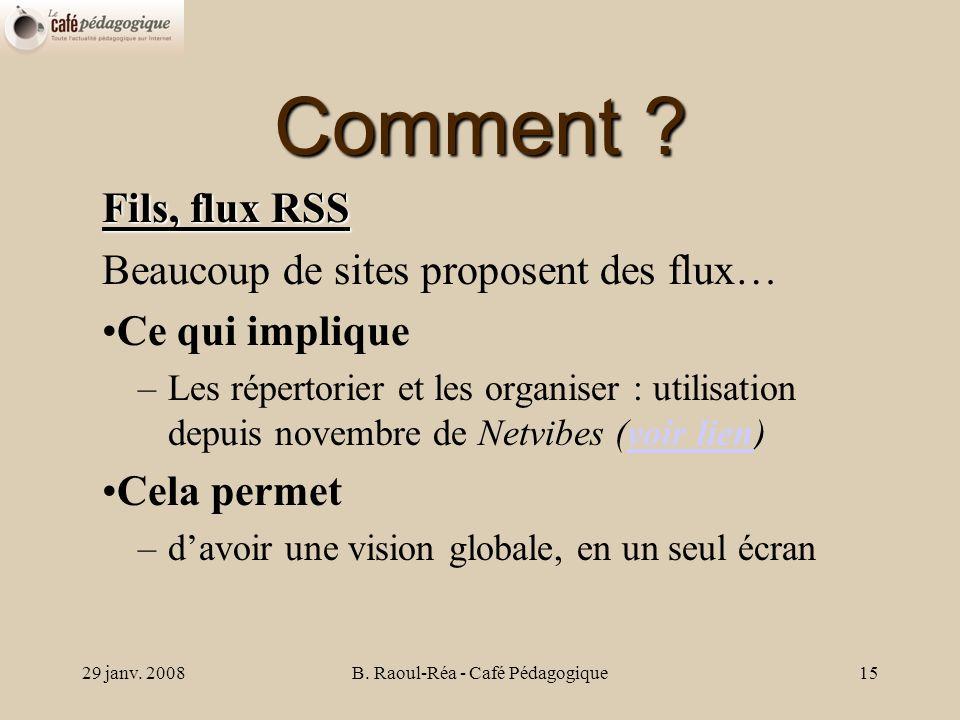 29 janv. 2008B. Raoul-Réa - Café Pédagogique15 Comment .
