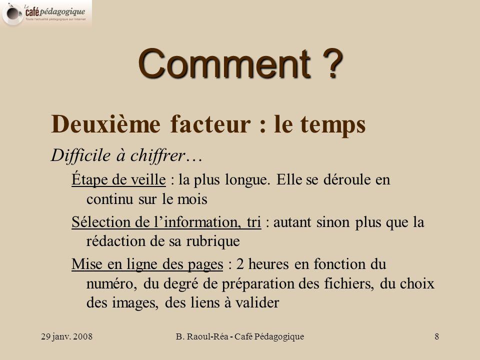 29 janv.2008B. Raoul-Réa - Café Pédagogique9 Comment .