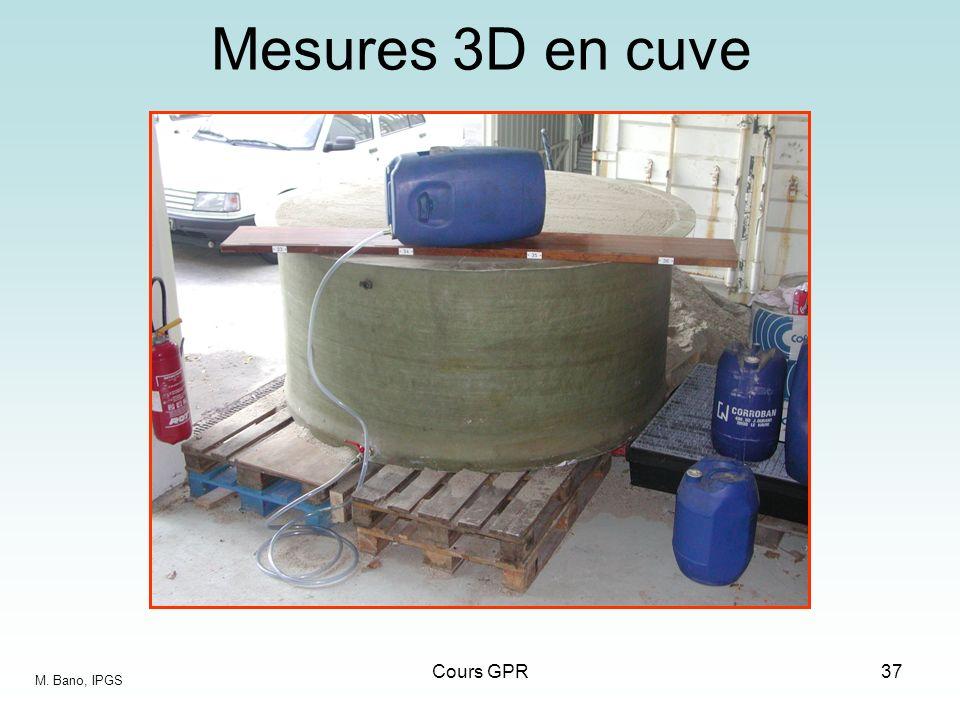 Cours GPR37 Mesures 3D en cuve M. Bano, IPGS