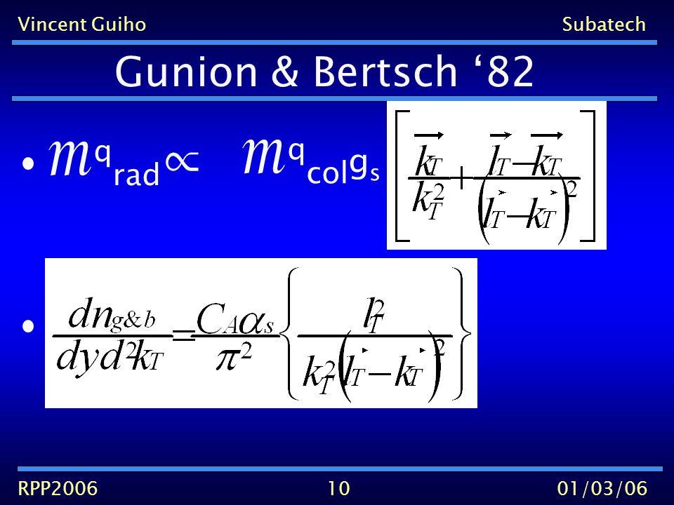 Vincent GuihoSubatech RPP200601/03/06 Gunion & Bertsch 82 10 q rad q col g s