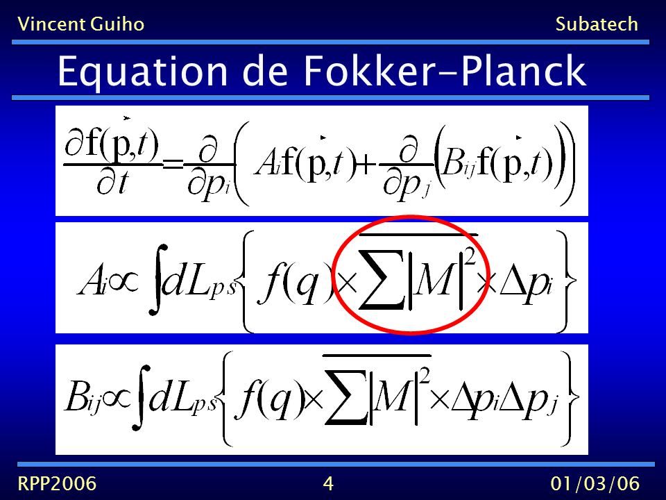 Vincent GuihoSubatech RPP200601/03/06 Equation de Fokker-Planck 4