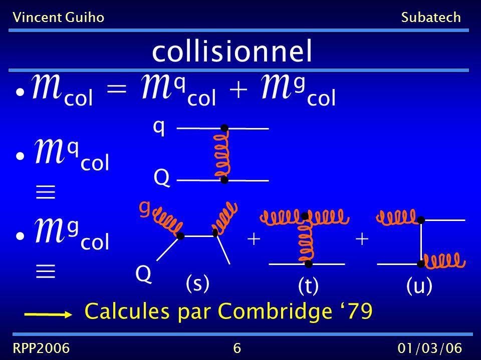 Vincent GuihoSubatech RPP200601/03/06 Radiatif 7 q rad q Q + + + +