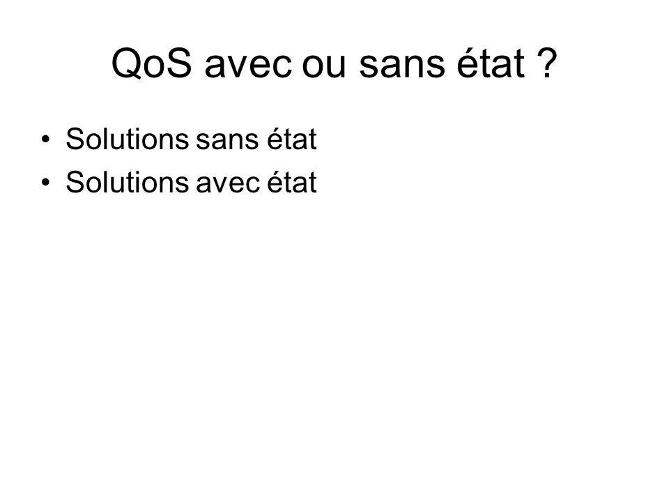 QoS avec ou sans état ? Solutions sans état Solutions avec état