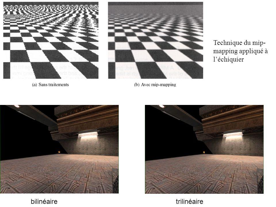 Technique du mip- mapping appliqué à léchiquier bilinéairetrilinéaire