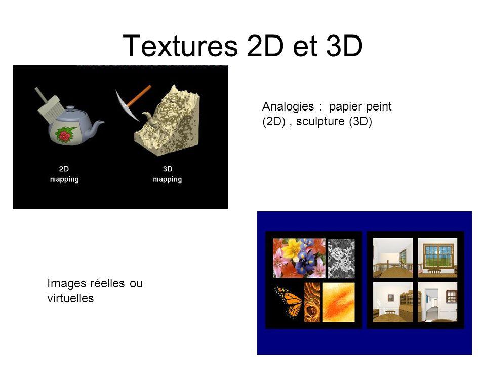 Sous échantillonnage (aliasing) Mip-Mapping : texture à plusieurs échelles On suppose limage de la texture carrée et de taille 2N × 2N.