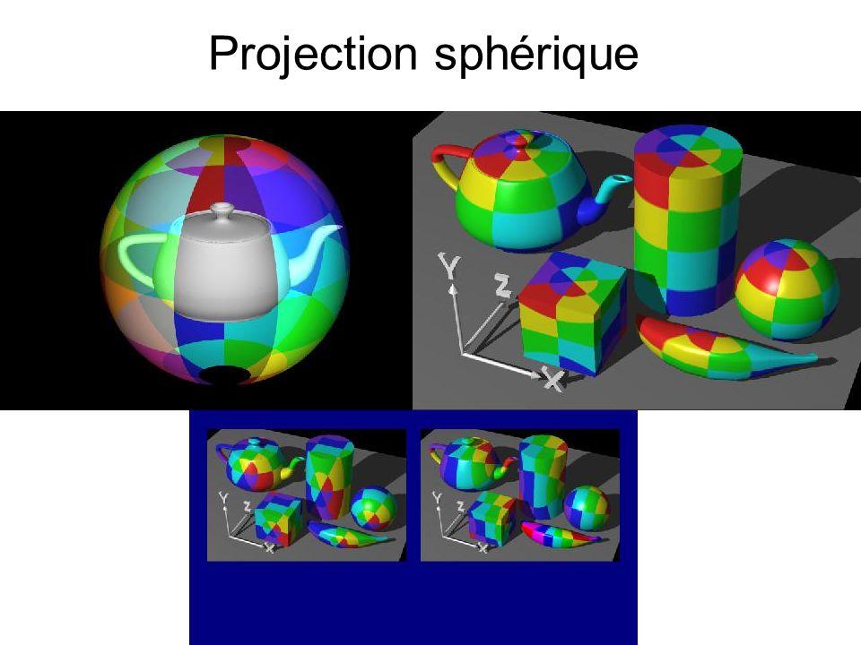 3D Pour faire les anneaux, on prend les coord en x et y (resp x et z, y et z) pour calculer la distance dun point au centre de lobjet + troncature.