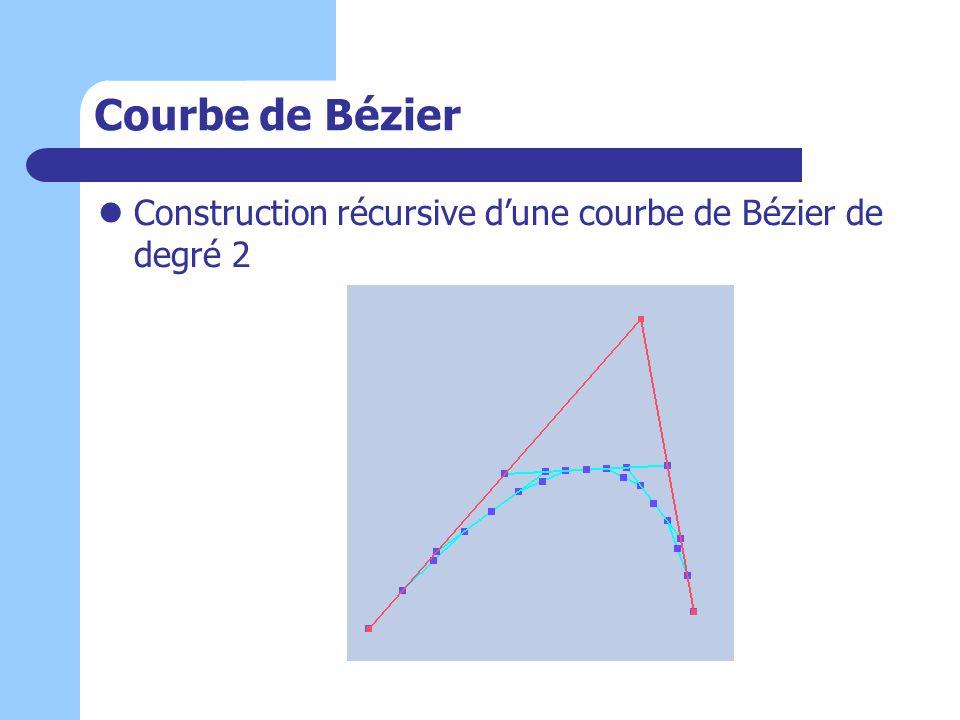 Courbe de Bézier Construction récursive dune courbe de Bézier de degré 2