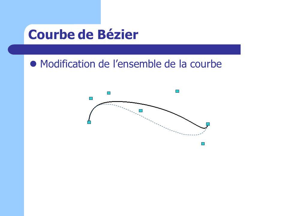 Courbe de Bézier Modification de lensemble de la courbe